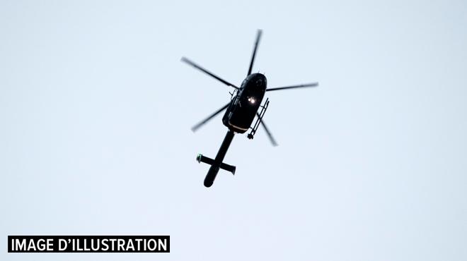 Survol d'hélicoptère